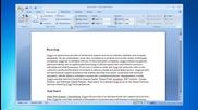 Microsoft® Word 2007: Set margins