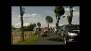 Tour de France 2011 - Stage 9 - Flecha Hoogerland Car Crash