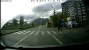 Пешеходци на пътя - компилация ! 3