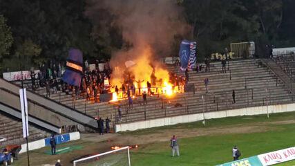 """Огнена подкрепа за """"сините"""" от Ултрас Левски"""