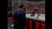 Wwe Wwf - The Rock Vs Shane Mcmahon Steel Cage Match - Wwf titel match part 1