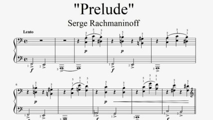 """Serge Rachmaninoff - Prelude"" - Piano sheet music (by Tatiana Hyusein)"
