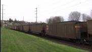 Bnsf 9891 Leads A Coal Train @ Old Town Tacoma, Wa w Canon Hf11