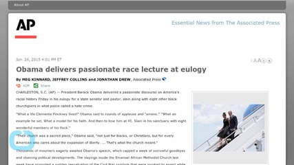 Obama Delivers Passionate Race Lecture at Eulogy