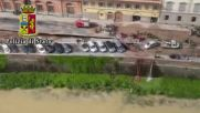 Italy: Giant sinkhole swallows up dozens of cars in central Florence