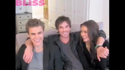 Vampire Diaries cast chat to mybliss.co.uk