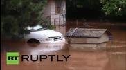 Най-малко двама загинали при тежките наводнения в Оклахома и Тексас