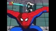 Епичната двойка герои Човекът - Паяк и Черната Котка от анимацията Спайдър - Мен (1994-1998)