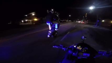 Мотоциклетист разказа играта на тази патрулка