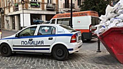Горя клон на банка на главната улица в Пловдив