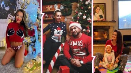 Любов, усмивки, много деца... Коледните снимки на българските звезди