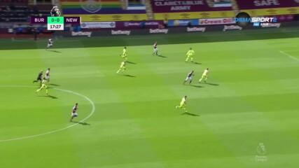 Бърнли - Нюкасъл Юнайтед 1:0 /първо полувреме/