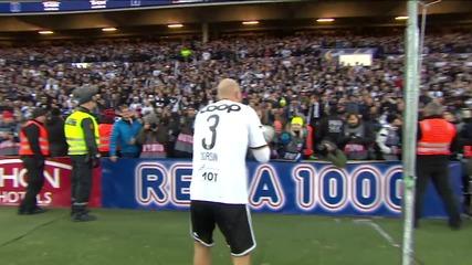 Страхотна еуфория! Фенове и футболисти пеят и празнуват заедно!