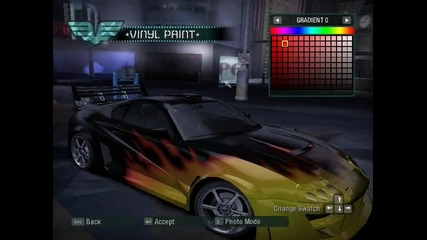 Need For Speed Carbon Toyota Supra Tuning