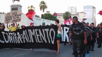 Brazil: Protesters rally against fare hike in Rio de Janeiro