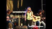 Kelly Clarkson Because Of You Live Acoustic Version Brent Brown Ballpark, Orem Summerfest, Utah