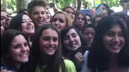 Justin Bieber Cheesy Posing with Fans - The Ritz Hotel - Madrid