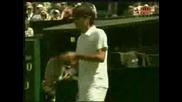 Wimbledon - Federer - Hrbaty - 2:1 Трети Сет!