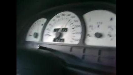Опел Вектра 2.0 Ускорение от 0 - 160км/ч