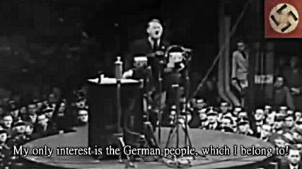 Не искаме нищо друго освен мир!_卐 Adolf Hitler_卐 1933_卐 We want nothing but peace!_卐