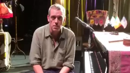 Хю Лори с обръщение към пубиката в София; Hugh Laurie - Greetings Sofia