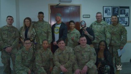 Superstars visit U.S. Air Force Base in Riyadh