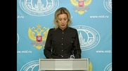 Russia: Zakharova calls shame on NATO for reaction to Su-24 downing