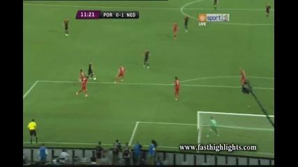 Фалцов удар на Ван Дер Варт и бележи за 1:0 срещу Португалия (португалия 0-1 Холандия) 17.06.2012