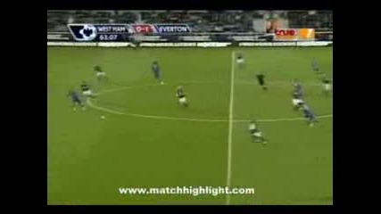 Уест Хем 1 - 2 Евертън /08.11.2009/ [][][] West Ham 1 - 2 Everton /08.11.2009/