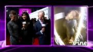 Nina Dobrev at the 2014 Peoples Choice Awards red carpet