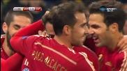 Украйна - Испания 0:1 /първо полувреме/