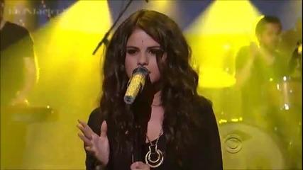 [hd] Selena Gomez - Come and Get It - David Letterman 4-24-13
