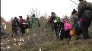 Greece: Refugees arrive at Macedonian border after crossing Suva Reka river