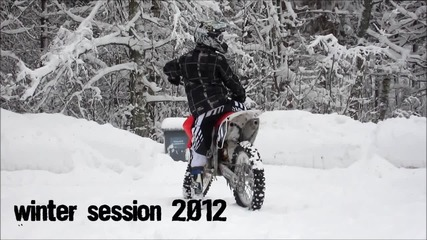Crf 250 snow session 2012