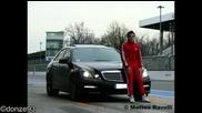 Mercedes E63 Amg drift, burnout + sound