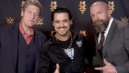 Triple H & William Regal present Angel Garza with a new NXT Cruiserweight Title: WWE.com Exclusive, Jan. 25, 2020