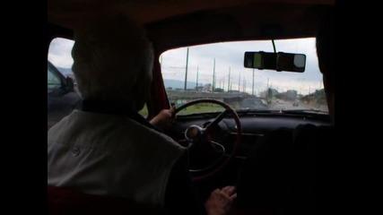 Шофиране на Москвич 407 1959 година в София