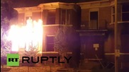 USA: Ferguson house ablaze after police fatally shoot 18-yr-old black male