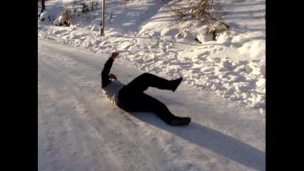 Лудия скиор без ски..смях 100%