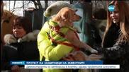 Протест на защитници на животните – затвориха се в клетки