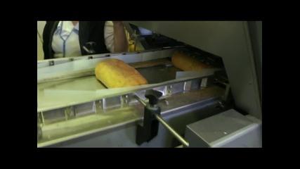 Линия за нарязване и опаковане на хляб в торби с клипс - ф.хранпак