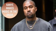 Kanye West is working on new music at a ski resort