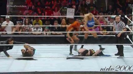 Paige vs Naomi:raw 03 August 2015/първична сила 3 Август 2015