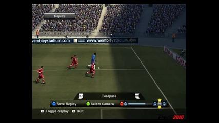 Pro Evolution Soccer - Невероятно изпълнение на Nicolas Anelka (8/10)
