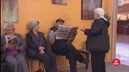 Смях! Станете за да седне полицаят - Скрита камера