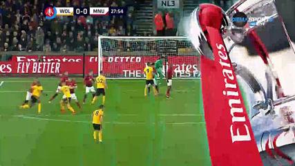 Уулвърхямптън - Манчестър Юнайтед 0:0 /първо полувреме/