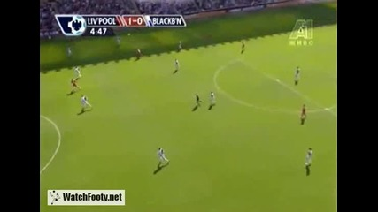Ливърпул 4 : 0 Блякбърн гол на Торес 11.04.09