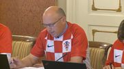 Croatia: Gov. meets wearing football jerseys after semi-final win over England