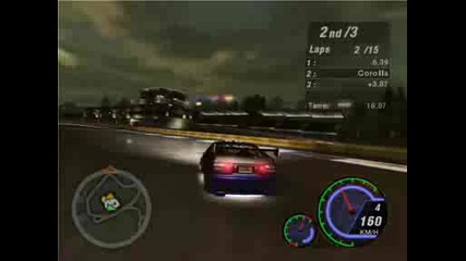 Nfs Underground 2 - Dyno Street X race (nosxvenom vs. Dragxralor)