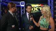 Kenta speaks to Renee Young after arriving at Nxt